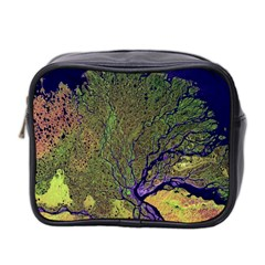 Lena River Delta A Photo Of A Colorful River Delta Taken From A Satellite Mini Toiletries Bag 2 Side by Simbadda