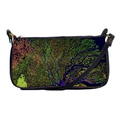 Lena River Delta A Photo Of A Colorful River Delta Taken From A Satellite Shoulder Clutch Bags by Simbadda