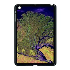 Lena River Delta A Photo Of A Colorful River Delta Taken From A Satellite Apple Ipad Mini Case (black) by Simbadda