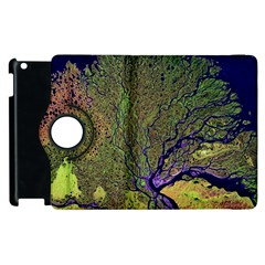 Lena River Delta A Photo Of A Colorful River Delta Taken From A Satellite Apple Ipad 2 Flip 360 Case by Simbadda