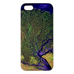 Lena River Delta A Photo Of A Colorful River Delta Taken From A Satellite Apple Iphone 5 Premium Hardshell Case by Simbadda