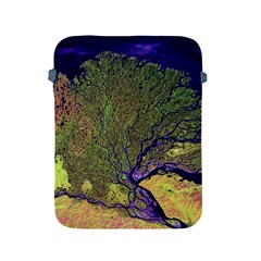 Lena River Delta A Photo Of A Colorful River Delta Taken From A Satellite Apple Ipad 2/3/4 Protective Soft Cases by Simbadda