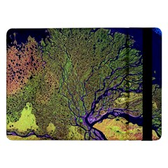 Lena River Delta A Photo Of A Colorful River Delta Taken From A Satellite Samsung Galaxy Tab Pro 12.2  Flip Case