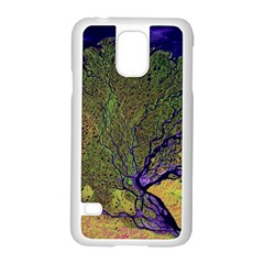Lena River Delta A Photo Of A Colorful River Delta Taken From A Satellite Samsung Galaxy S5 Case (white) by Simbadda