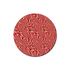 Abstract Neutral Pattern Rubber Round Coaster (4 Pack)  by Simbadda