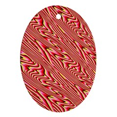 Abstract Neutral Pattern Oval Ornament (two Sides) by Simbadda