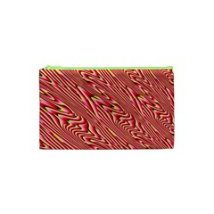 Abstract Neutral Pattern Cosmetic Bag (xs)