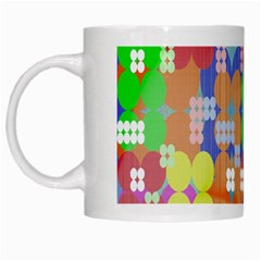 Abstract Polka Dot Pattern Digitally Created Abstract Background Pattern With An Urban Feel White Mugs by Simbadda