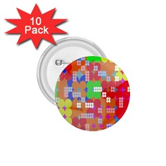 Abstract Polka Dot Pattern Digitally Created Abstract Background Pattern With An Urban Feel 1 75  Buttons (10 Pack) by Simbadda