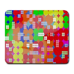 Abstract Polka Dot Pattern Digitally Created Abstract Background Pattern With An Urban Feel Large Mousepads by Simbadda