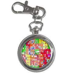 Abstract Polka Dot Pattern Digitally Created Abstract Background Pattern With An Urban Feel Key Chain Watches by Simbadda