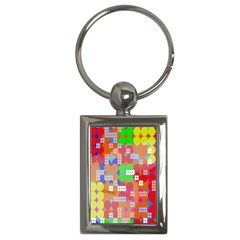Abstract Polka Dot Pattern Digitally Created Abstract Background Pattern With An Urban Feel Key Chains (rectangle)  by Simbadda