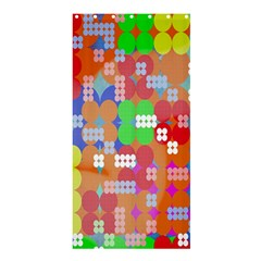 Abstract Polka Dot Pattern Digitally Created Abstract Background Pattern With An Urban Feel Shower Curtain 36  X 72  (stall)  by Simbadda