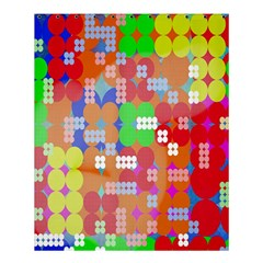 Abstract Polka Dot Pattern Digitally Created Abstract Background Pattern With An Urban Feel Shower Curtain 60  X 72  (medium)  by Simbadda