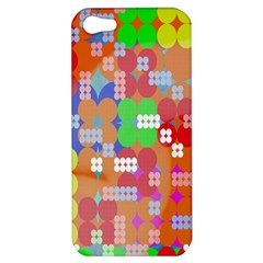 Abstract Polka Dot Pattern Digitally Created Abstract Background Pattern With An Urban Feel Apple Iphone 5 Hardshell Case by Simbadda