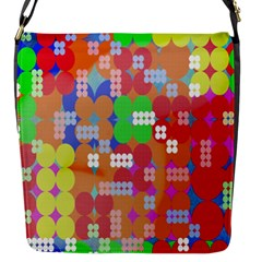 Abstract Polka Dot Pattern Digitally Created Abstract Background Pattern With An Urban Feel Flap Messenger Bag (s) by Simbadda