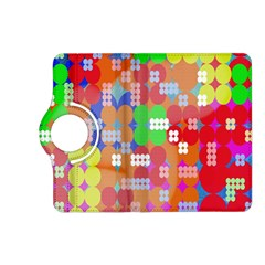 Abstract Polka Dot Pattern Digitally Created Abstract Background Pattern With An Urban Feel Kindle Fire Hd (2013) Flip 360 Case by Simbadda