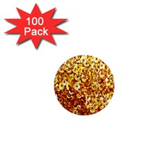 Yellow Abstract Background 1  Mini Magnets (100 Pack)  by Simbadda
