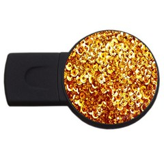 Yellow Abstract Background Usb Flash Drive Round (2 Gb) by Simbadda