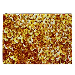 Yellow Abstract Background Cosmetic Bag (xxl)  by Simbadda