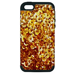 Yellow Abstract Background Apple Iphone 5 Hardshell Case (pc+silicone) by Simbadda