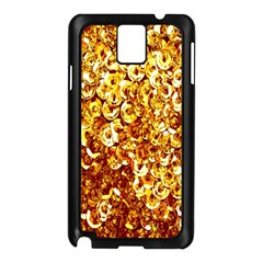 Yellow Abstract Background Samsung Galaxy Note 3 N9005 Case (black) by Simbadda