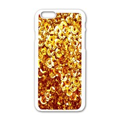 Yellow Abstract Background Apple Iphone 6/6s White Enamel Case by Simbadda
