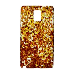 Yellow Abstract Background Samsung Galaxy Note 4 Hardshell Case by Simbadda