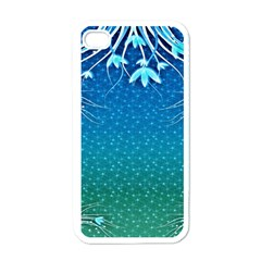 Floral 2d Illustration Background Apple Iphone 4 Case (white) by Simbadda