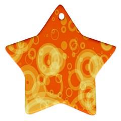 Retro Orange Circle Background Abstract Ornament (star) by Nexatart