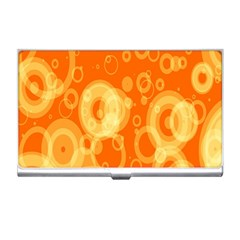 Retro Orange Circle Background Abstract Business Card Holders by Nexatart