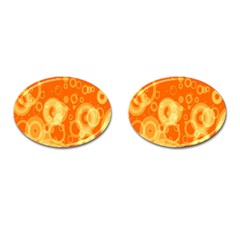 Retro Orange Circle Background Abstract Cufflinks (oval) by Nexatart