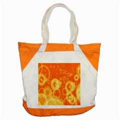 Retro Orange Circle Background Abstract Accent Tote Bag by Nexatart