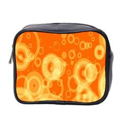 Retro Orange Circle Background Abstract Mini Toiletries Bag 2 Side by Nexatart