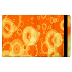Retro Orange Circle Background Abstract Apple Ipad 3/4 Flip Case by Nexatart