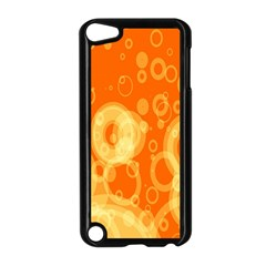 Retro Orange Circle Background Abstract Apple Ipod Touch 5 Case (black) by Nexatart