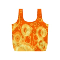 Retro Orange Circle Background Abstract Full Print Recycle Bags (s)  by Nexatart