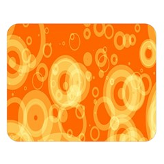 Retro Orange Circle Background Abstract Double Sided Flano Blanket (large)  by Nexatart