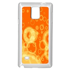 Retro Orange Circle Background Abstract Samsung Galaxy Note 4 Case (white) by Nexatart