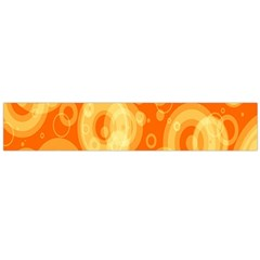 Retro Orange Circle Background Abstract Flano Scarf (large) by Nexatart