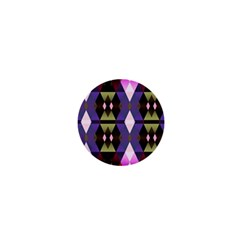 Geometric Abstract Background Art 1  Mini Magnets