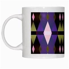 Geometric Abstract Background Art White Mugs