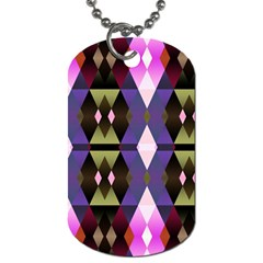 Geometric Abstract Background Art Dog Tag (one Side) by Nexatart