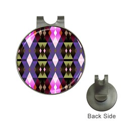 Geometric Abstract Background Art Hat Clips With Golf Markers by Nexatart