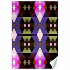 Geometric Abstract Background Art Canvas 12  X 18   by Nexatart