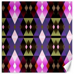Geometric Abstract Background Art Canvas 16  X 16   by Nexatart