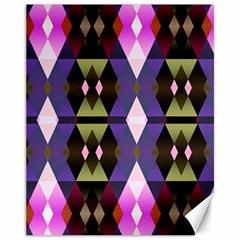 Geometric Abstract Background Art Canvas 11  X 14   by Nexatart