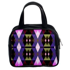 Geometric Abstract Background Art Classic Handbags (2 Sides) by Nexatart