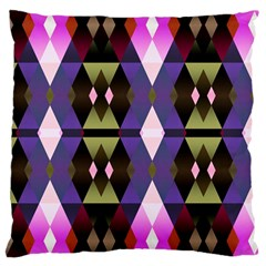 Geometric Abstract Background Art Large Cushion Case (two Sides) by Nexatart