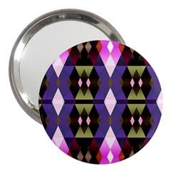 Geometric Abstract Background Art 3  Handbag Mirrors by Nexatart